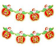 2pcs дизайн случайный цвет украшения подарки кольцо тростника колокола висят играть роль ofing елочные украшения Рождественский подарок
