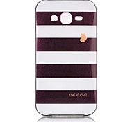 For Samsung Galaxy J7 (2016) J7 Black White Stripes Pattern Back Cover PC TPU Case J2 J5 J7
