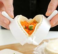 cheap -Large-size Plastic Dumpling Maker, L6.5cm x W6.5cm x H10cm 1pc,Kitchen Tool