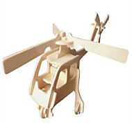 Jigsaw Puzzles Wooden Puzzles Building Blocks DIY Toys The Helicopter 1 Wood Ivory Model & Building Toy