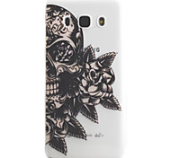 For Samsung Galaxy J5 J3 (2016) Case Cover Skull Flower Pattern High Permeability Painting TPU Material Phone Case