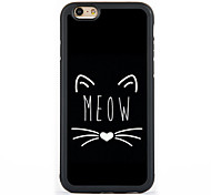 cheap -Case For Apple iPhone 5 Case iPhone 6 iPhone 7 Pattern Back Cover Cat Hard Aluminium for iPhone 7 Plus iPhone 7 iPhone 6s Plus iPhone 6s
