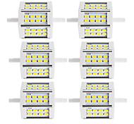 Недорогие -250-300 lm R7S LED прожекторы Трубка 24 светодиоды SMD 5730 Декоративная Тёплый белый Холодный белый AC85-265 AC 220-240V