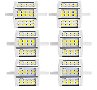 R7S LED прожекторы Трубка 24 SMD 5730 880 lm Тёплый белый Холодный белый К Декоративная V