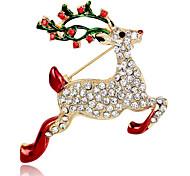 попка мая Рождественский олень брошь