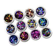 abordables -12pcs/set Nail Glitter Paillettes Accessoires Brille & Scintille Paillettes Haute qualité Quotidien Nail Art Design
