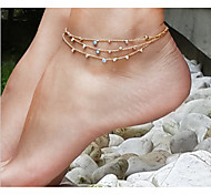 Women's Anklet/Bracelet Alloy Tassel Double Sided European Handmade Costume Jewelry Jewelry For Daily Casual Beach