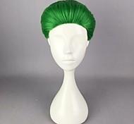 жен. Парики из искусственных волос Без шапочки-основы Короткий Прямые Зеленый Парики для косплей Парик для Хэллоуина Карнавальный парик