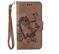 Für xiaomi redmi note 3 Ganzkörper Herz geprägt Leder Brieftasche