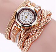 cheap -Women's Quartz Wrist Watch / Bracelet Watch Imitation Diamond / Punk / Cool PU Band Charm / Sparkle / Vintage / Casual / Eiffel Tower /