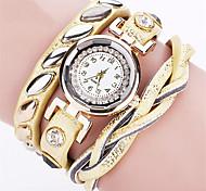cheap -Women's Quartz Wrist Watch Bracelet Watch Colorful Punk PU Band Charm Vintage Casual Bohemian Fashion Cool Bangle Black White Blue Red