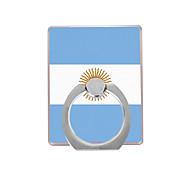 флаг аргентинского образца пластиковый держатель кольца / 360 вращающийся для мобильного телефона iphone 8 7 samsung galaxy s8 s7