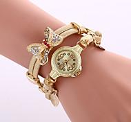 Недорогие -Женские Нарядные часы Модные часы Часы-браслет Наручные часы Цветной Кварцевый сплав ГруппаВинтаж Блестящие Бабочка Богемные С подвесками
