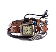 cheap -Women's Wrist watch Bracelet Watch Fashion Watch Quartz Water Resistant / Water Proof Leather Band Vintage Bohemian Bangle Brown