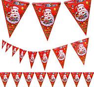 Недорогие -5pcs рождества вымпел рождества торговый центр магазин украшение дизайн Санта-Клауса флаг 8 лица