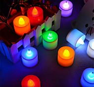 LED Candle Lights T 1 Dip LED 300 lm Blue Yellow Green Pink Red K Decorative AC 85-265 V