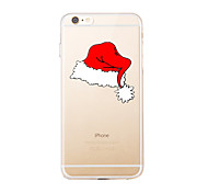For Transparent Pattern Case Back Cover Case Christmas Little Red Riding Hood Soft TPU for IPhone 7 7Plus iPhone 6s 6 Plus iPhone 6s 6 5s 5 5E 5C