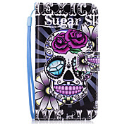 cheap -Case For Samsung Galaxy A5(2017) A3(2017) Card Holder Wallet with Stand Back Cover Skull Hard PU Leather for A3(2017) A5(2017) A7(2017)