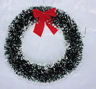Недорогие -1шт белый / зеленый край лук марены отель торговый макет окна Рождественский венок рождественские украшения