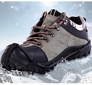 Schnee Stollen Kletterschuhe Steigeisen 18 Zähne Anti-Rutsch- Edelstahl für Camping & Wandern Klettern Motorschlitten Schneeschuhwandern