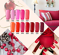 USA ONLY Nail Gel Perfect Red Color System Nail Polish UV&LED Lamp Gel Soak Off Nail Polish Red Rose
