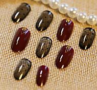24 части лицемерия ногтей полоски для ногтей продукта волна вина красного цвета смеси