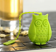 cheap -Silicone Creative Kitchen Gadget / Tea Owl 1pc Filter / Tea Strainer / Daily