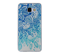 For Samsung Galaxy A8(2016) A8 A7 A5 A3 A510 A310 Case Cover Blue and White Leaves Painted Pattern TPU Material Phone Case