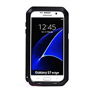Кейс для Назначение SSamsung Galaxy S7 edge S7 Вода / Грязь / Надежная защита от повреждений Чехол Сплошной цвет Твердый Металл для S7