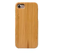 Недорогие -Кейс для Назначение Apple Кейс для iPhone 5 iPhone 6 iPhone 7 Защита от пыли Кейс на заднюю панель Сплошной цвет Твердый Бамбук для