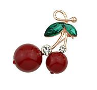 Недорогие -новый милый горный хрусталь вишня форма броши ювелирные изделия