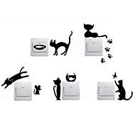 Недорогие -Животные Наклейки Простые наклейки Декоративные наклейки на стены Наклейки для выключателя света, Винил Украшение дома Наклейка на стену