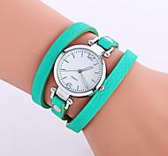 cheap -Women's Bracelet Watch Fashion Watch Wrist watch Quartz Punk Colorful Leather Band Charm Candy color Casual Bohemian Bangle Cool Black