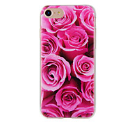 For iPhone 7 7plus 6S 6plus Case Cover Red Rose Painted Pattern TPU Material Phone Case