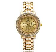baratos -Mulheres Relógio de Moda Relógio de Pulso Relógio Casual Relógios Femininos com Cristais Quartzo imitação de diamante Strass / Lega Banda