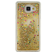 For Samsung Galaxy A5(2016) A3(2016) Flowing Liquid Case Back Cover Case Glitter Shine Soft TPU
