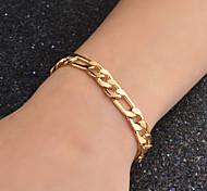 Недорогие -Муж. форма Секси Мода Ожерелья-цепочки Золотистый Ожерелья-цепочки Свадьба Для вечеринок Повседневные Бижутерия