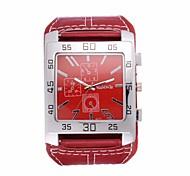preiswerte -Herrn Quartz Armbanduhr / Armbanduhren für den Alltag Leder Band Retro Freizeit Modisch Cool Schwarz Weiß Rot Braun