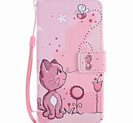 cheap -Case For LG LG Nexus 5X LG K10 LG K7 Card Holder Wallet with Stand Full Body Cases Cat Hard PU Leather for LG X Power