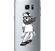 Bearded old man  Soft Material For Compatibility TPU For Samsung Galaxy S6 Edge Plus S6 S7 Edge S7