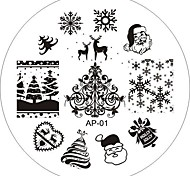 Nail Art Stamp Stamping Image Template Plate AP Series 25 style