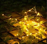 cheap -String Lights 20 LEDs Warm White Remote Control / RC Dimmable Waterproof Color-Changing DC 5V DC5