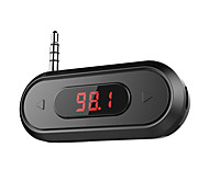 Doosl 3.5mm FM Transmitter Hands-free Calling Wireless Radio Car Kit Compatible with iPhone Samsung with 3.5mm Audio Jack