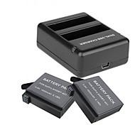 Недорогие -Зарядное устройство батарея Для Экшн камера Gopro 4 Silver Gopro 4 Session Универсальный Путешествия