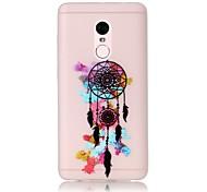 For Glow in the Dark / Translucent Case Back Cover Case Dream Catcher Soft TPU Xiaomi Redmi Note 4 Redmi Pro