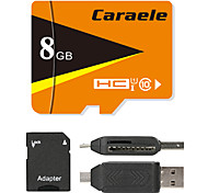 Caraele 8GB Карточка TF Micro SD карты карта памяти UHS-I U1 Class10