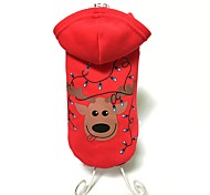 Dog Coat / Hoodie Red Dog Clothes Winter Reindeer Cute / Fashion / Keep Warm / Christmas
