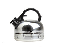 60 mins Whistle Kettle Shape Mechanical Teapot Kitchen Timer Cooking Count Down