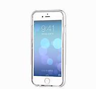 Недорогие -Для Кейс для iPhone 6 / Кейс для iPhone 6 Plus Мигающая LED подсветка / Прозрачный Кейс для Задняя крышка Кейс для Один цвет Мягкий TPU