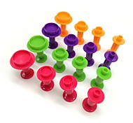 4шт / комплект круглой цветной пружинной пластиковой формы для тортов, инструмент для выпечки